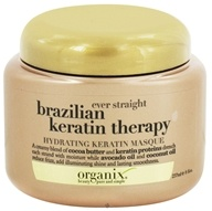 Organix - Hydrating Keratin Masque Ever Straight Brazilian Keratin Therapy - 8 oz. CLEARANCE PRICED by Organix