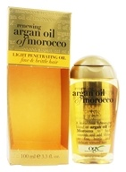 Organix - Penetrating Oil Light For Fine, Brittle Hair Renewing Moroccan Argan Oil - 3.3 oz. (022796916150)