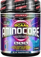 Image of AllMax Nutrition - Aminocore BCAAs Advanced Myotrophic Matrix Blue Raspberry - 400 Grams