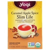 Yogi Tea - Slim Life with Organic Assam Tea Caramel Apple Spice - 16 Tea Bags Formerly Snack Tea