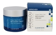 Andalou Naturals - Clear Skin Argan Stem Cell Recovery Cream - 1.7 oz. Clarifying Beta Hydroxy Complex Recovery Cream