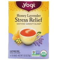 Yogi Tea - Honey Lavender Stress Relief Tea - 16 Tea Bags (076950204546)