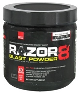 AllMax Nutrition - Razor8 Blast Powder Highly Concentrated Pre-Workout Stimulant Trial Size Watermelon - 100 Grams, from category: Sports Nutrition