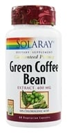 Solaray - Green Coffee Bean Extract 400 mg. - 60 Vegetarian Capsules (076280324532)