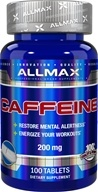 100% Pure Caffeine Easy-Cut Pill 200 mg. - 100 Tablets by AllMax Nutrition