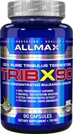 AllMax Nutrition - TribX90 100% Pure Tribulus Terrestris 750 mg. - 90 Capsules (665553200873)