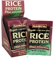 Nutribiotic - Vegan Rice Protein Plus Antioxidant Properties - 12 Packet(s) DAILY DEAL by Nutribiotic