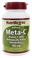 Nutribiotic - Meta-C Buffered Vitamin C with Biologically Active Metabolites 500 mg. - 100 Capsules by Nutribiotic