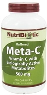 Nutribiotic - Meta-C Buffered Vitamin C with Biologically Active Metabolites 500 mg. - 250 Capsules - $30.33