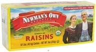 Newman's Own Organics - Organic California Raisins - 6 Box(s) 1.5 oz. Each, from category: Health Foods