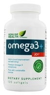 Genuine Health - o3mega+ Joy - 120 Softgels