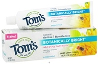 Image of Tom's of Maine - Natural Toothpaste Botanically Bright Whitening Fluoride-Free SLS-Free Peppermint - 4.7 oz.