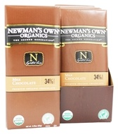 Newman's Own Organics - Chocolate Bar 34% Milk Chocolate - 3.25 oz., from category: Health Foods