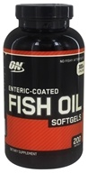 Optimum Nutrition - Enteric-Coated Fish Oil - 200 Softgels, from category: Nutritional Supplements