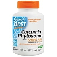 Doctor's Best - Curcumin Phytosome featuring Meriva 500 mg. - 180 Vegetarian Capsules