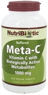 Nutribiotic - Meta-C Buffered Vitamin C with Biologically Active Metabolites 1000 mg. - 250 Vegetarian Tablets CLEARANCE PRICED (728177001865)