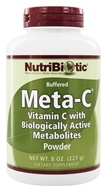 Nutribiotic - Meta-C Buffered Powder Vitamin C with Biologically Active Metabolites - 8 oz.