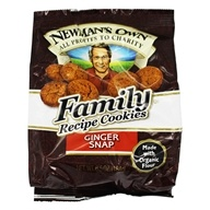 Newman's Own Organics - Organic Family Recipe Cookies Ginger Snap - 6.5 oz. DAILY DEAL
