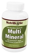 Nutribiotic - Multi Mineral with Germanium, Boron, GTF Chromium & Trace Minerals - 250 Capsules
