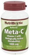 Nutribiotic - Meta-C Buffered Vitamin C with Biologically Active Metabolites 1000 mg. - 100 Vegetarian Tablets