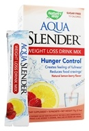 Nature's Way - Aqua Slender Weight Loss Drink Mix Natural Lemon-Berry Flavor - 10 Packet(s)