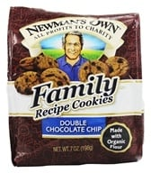 Newman's Own Organics - Family Recipe Cookies Double Chocolate Chip - 7 oz., from category: Health Foods