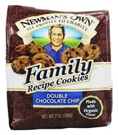 Image of Newman's Own Organics - Family Recipe Cookies Double Chocolate Chip - 7 oz.