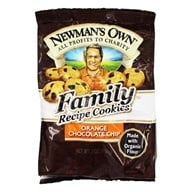 Image of Newman's Own Organics - Family Recipe Cookies Orange Chocolate Chip - 7 oz.