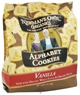 Image of Newman's Own Organics - Alphabet Cookies Vanilla - 7 oz.