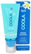 Coola Suncare - Classic Sunscreen Face Moisturizer Unscented 30 SPF - 1.7 oz.