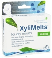 OraHealth - XyliMelts For Dry Mouth Mint-Free - 60 Disc(s) by OraHealth