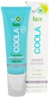 Coola Suncare - Mineral Sunscreen Face Matte Finish Cucumber 30 SPF - 1.7 oz.