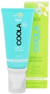 Coola Suncare - Plant UV Sunscreen Face Moisturizer Unscented 30 SPF - 1.7 oz.