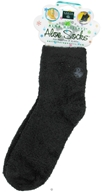 Earth Therapeutics - Aloe Socks Foot Therapy To Pamper & Moisturize Black - 1 Pair