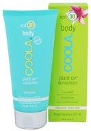Coola Suncare - Plant UV Sunscreen Body Moisturizer Unscented 30 SPF - 3 oz.