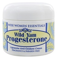 Image of Wise Essentials - Wild Yam Progesterone Cream Fragrance Free - 2 oz.