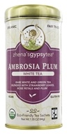 Zhena's Gypsy Tea - White Tea Ambrosia Plum - 22 Tea Bags (652790100158)