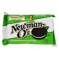 Newman's Own Organics - Newman-O's Creme Filled Chocolate Cookies Hint-O-Mint - 8 oz. (757645021647)