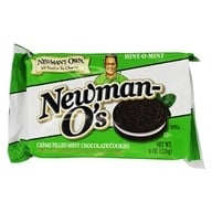 Image of Newman's Own Organics - Newman-O's Creme Filled Chocolate Cookies Hint-O-Mint - 8 oz.