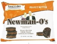Newman's Own Organics - Newman's-O's Creme Filled Chocolate Cookies Peanut Butter - 13 oz., from category: Health Foods