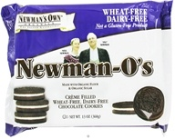 Newman's Own Organics - Newman's O's Creme Filled Chocolate Cookies Wheat Free Dairy Free - 13 oz., from category: Health Foods