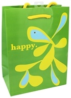 Earth Balance Bag - Tree Free Gift Bag Small Happy - $1.99