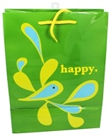 Earth Balance Bag - Tree Free Gift Bag Large Happy - $2.29
