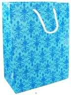 Earth Balance Bag - Tree Free Gift Bag Large Blue Damask, from category: Housewares & Cleaning Aids