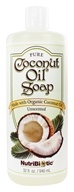Nutribiotic - Pure Coconut Oil Soap Unscented - 32 oz. (728177015046)