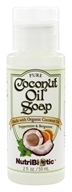 Nutribiotic - Pure Coconut Oil Soap Travel Size Peppermint & Bergamot - 2 oz.