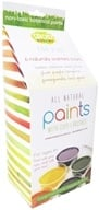 Glob - Paint Kit with 6 Paint Packets, Compostable Cups and 2 Bamboo Brushes