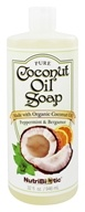 Nutribiotic - Pure Coconut Oil Soap Peppermint & Bergamot - 32 oz. (728177015145)