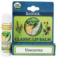 Badger - Classic Lip Balm Box Unscented - 1.5 oz. by Badger
