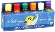 Badger - Classic Lip Balm Gift Set - 6 x 0.15 oz. Tubes by Badger